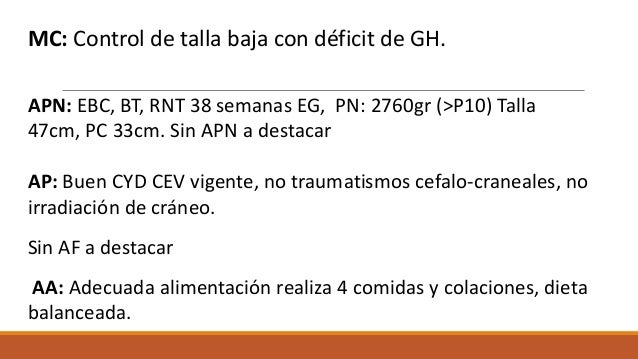 Manejo de tratamiento con GH en pacientes en transición Slide 3