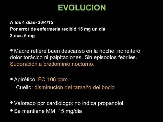 Control en Policlínica  MMIMMI 15 mg - d15 mg - d 1 día1 día 5 mg - d5 mg - d 3 días3 días 15 mg - d15 mg - d 7 días7 día...
