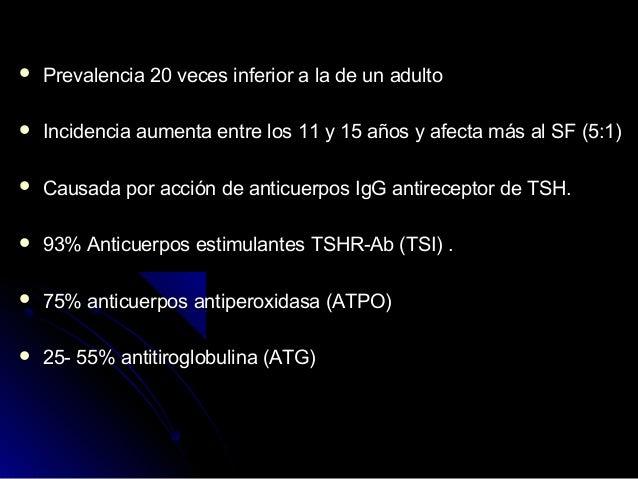 Fase Tirotóxica de la tiroiditis linfocitaria crónica (Hashitoxicosis) Por lo general se presentan en fases tempranas del...
