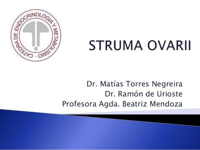 Dr. Matías Torres Negreira Dr. Ramón de Urioste Profesora Agda. Beatriz Mendoza