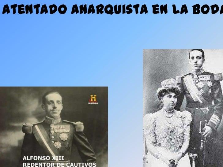 Atentado anarquista en la boda de Alfonso XIII.<br />