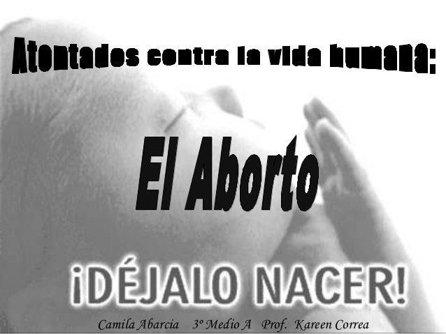 Camila Abarcia 3º Medio A Prof. Kareen Correa