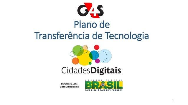 Plano de Transferência de Tecnologia 1