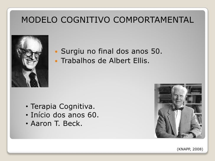Famosos A terapia cognitivo comportamental ND07