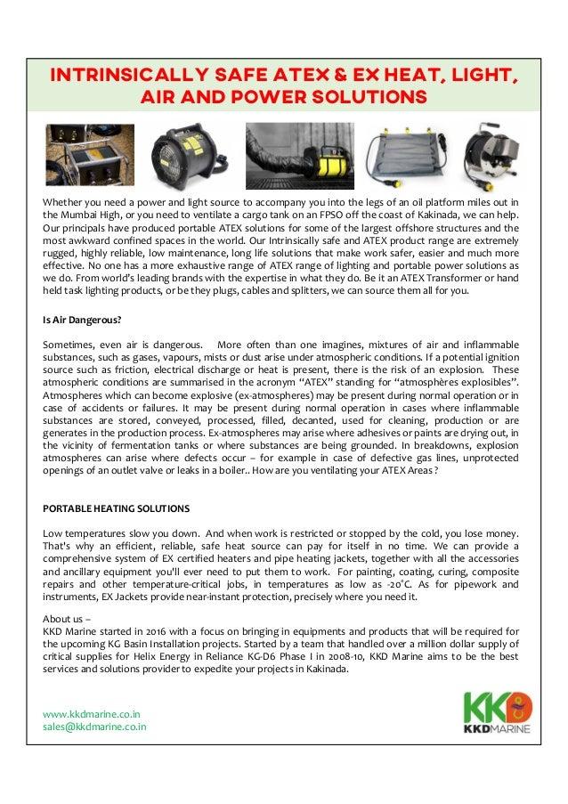 Atex equipments from kkd marine