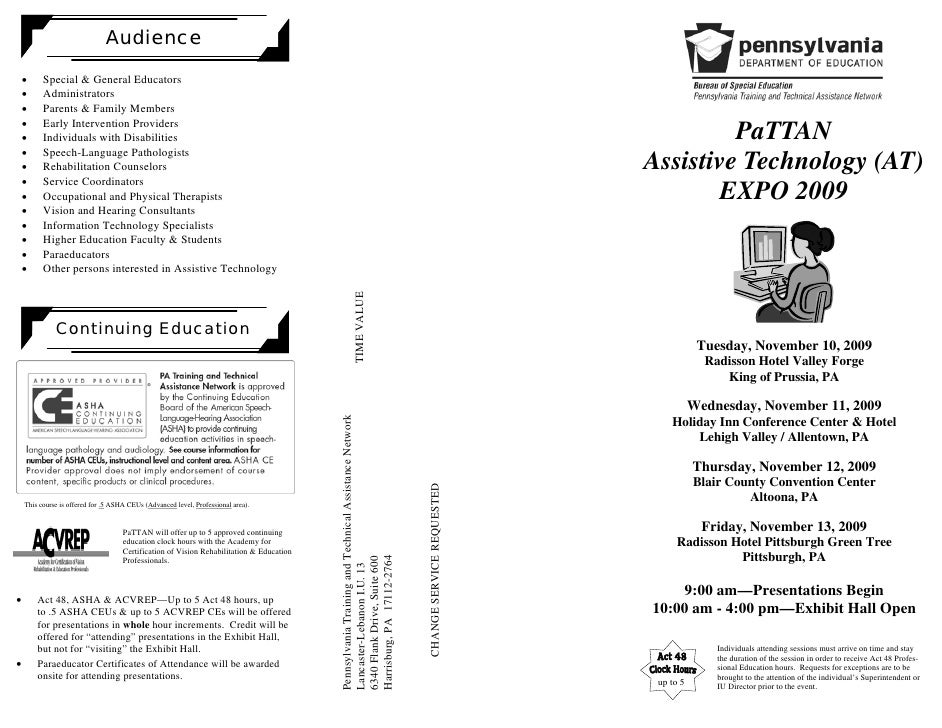 Audience         Special & General Educators      Administrators      Parents & Family Members      Early Interven...