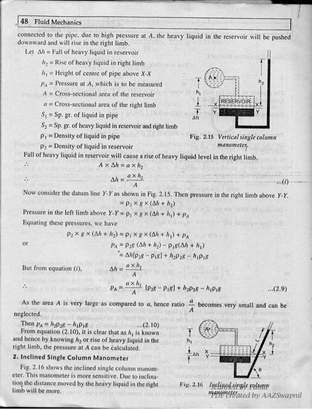 A text book of fluid mechanics and hydraulic machines dr
