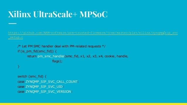 ATF : BL31 Runtime Service : SiP Service calls