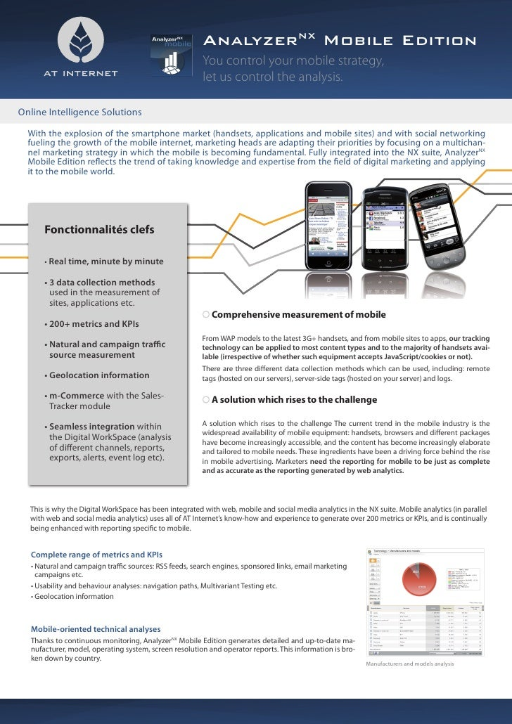 AnalyzerNX Mobile Edition                                                         You control your mobile strategy,       ...