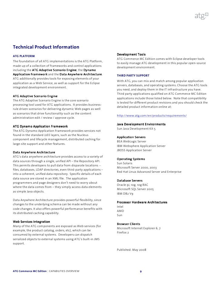ATG Commerce: Full Capabilities Overview