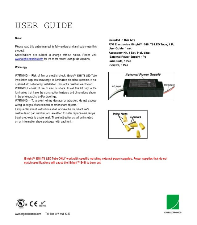Atg electronics ibright e48i led tube light user guidenote included in this box atg electronics ibright e48i t8 led tube publicscrutiny Choice Image