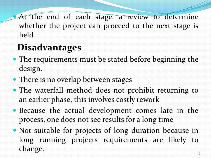 Software engg process models for Waterfall model is not suitable for