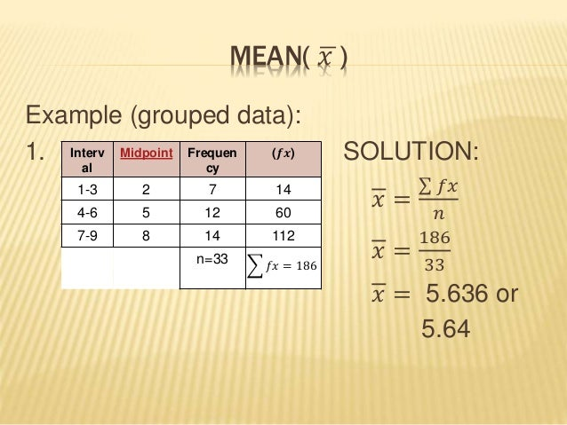 sample mean how to find