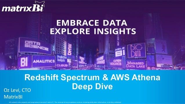 Redshift Spectrum & AWS Athena Deep Dive