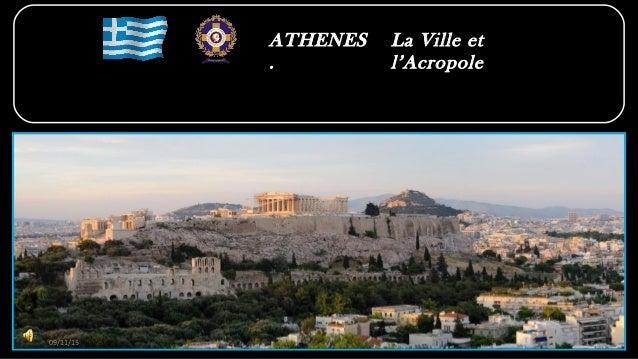 ATHENES . La Ville et l'Acropole 09/11/15 1