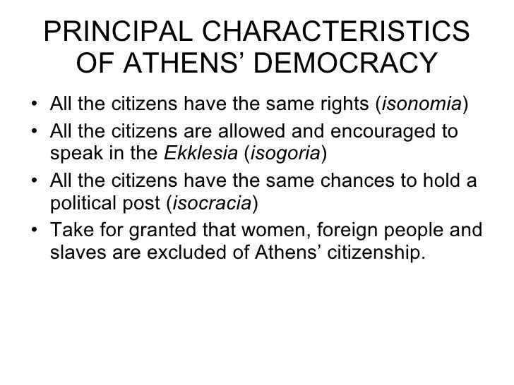 Athens democracy for 6 characteristics of bureaucracy
