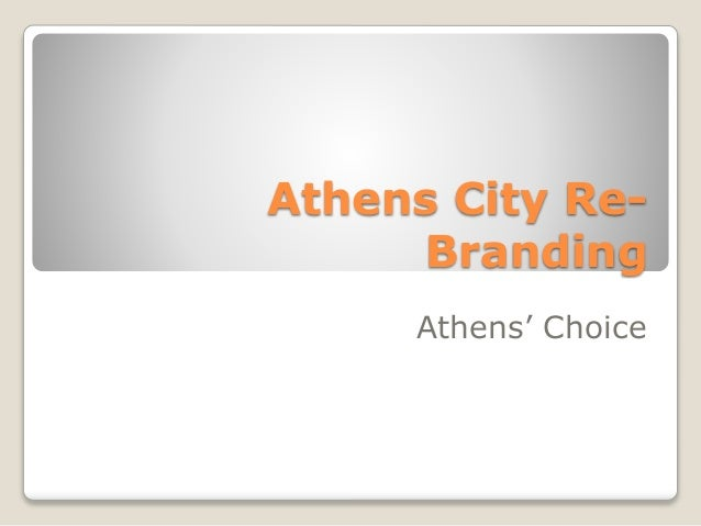 Athens City Re- Branding Athens' Choice
