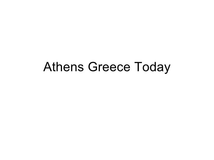 Athens Greece Today