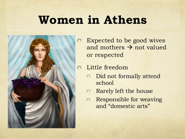 women in athens and sparta Women in ancient sparta had to roles they had to have healthychildren and keep house the men at the time were always offfighting wars.