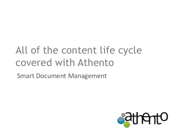 All of the content life cycle covered with Athento Smart Document Management