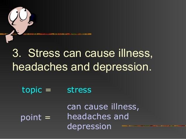 thesis statement about stress