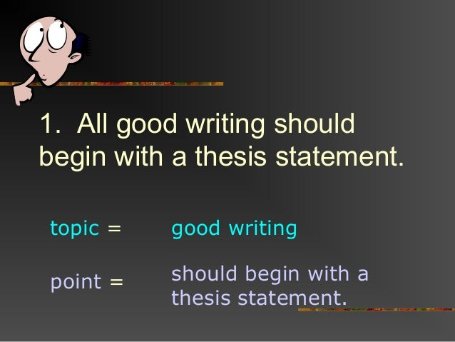 """formula for a good thesis statement As you tease out a few more ideas, you search for the middle ground, avoiding a thesis statement that is too broad or too narrow you want one that, like goldilocks's porridge, is """"just right"""" as soon as you've got a chunk of research, a deck of index cards, or a few files on the computer, take a few moments to reread your material."""