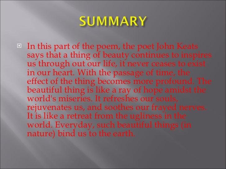 keats a thing of beauty poem