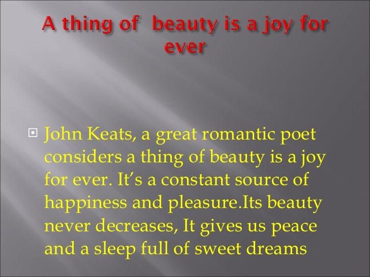 8 UlliJohn Keats A Great Romantic Poet Considers Thing Of Beauty