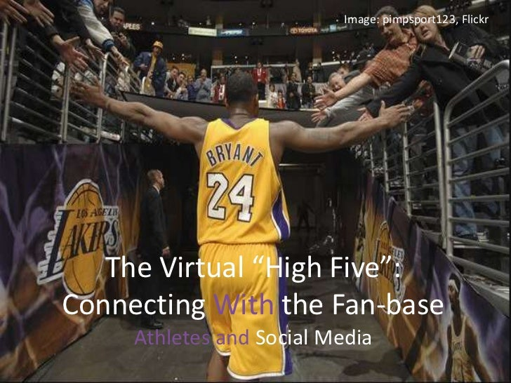 """Image: pimpsport123, Flickr<br />The Virtual """"High Five"""": Connecting With the Fan-baseAthletes and Social Media<br />"""