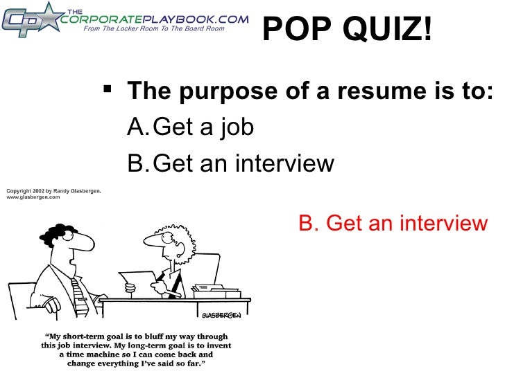 The Leading Job Board For Athletes; 2. POP QUIZ! U003culu003eu003cliu003eThe Purpose Of A  Resume ...