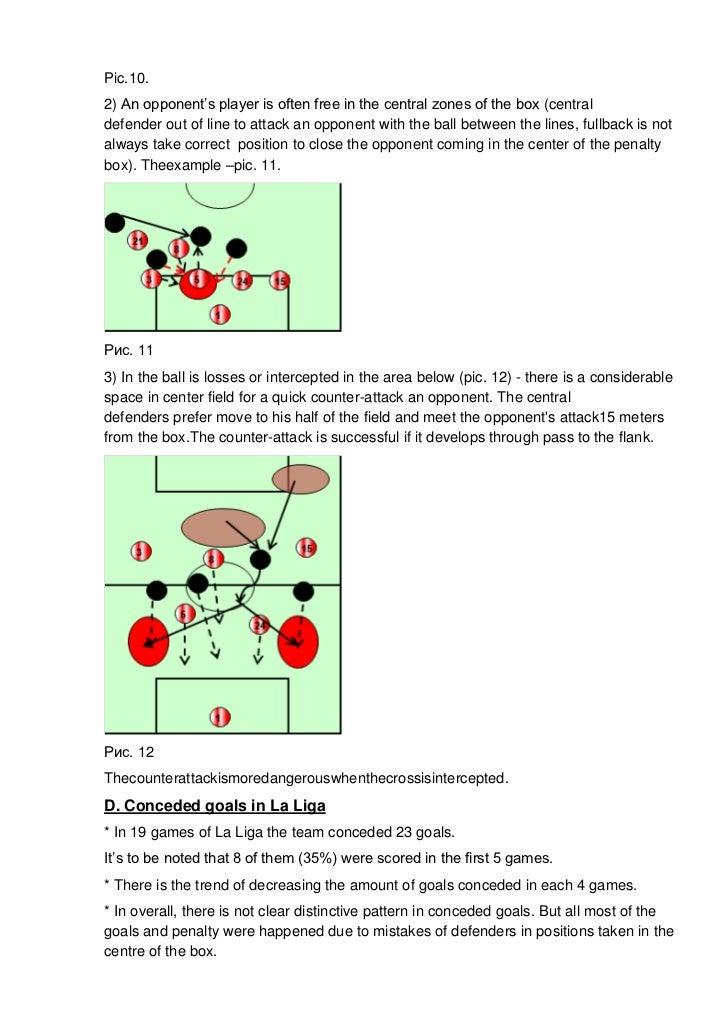 Pic.10.2) An opponent's player is often free in the central zones of the box (centraldefender out of line to attack an opp...