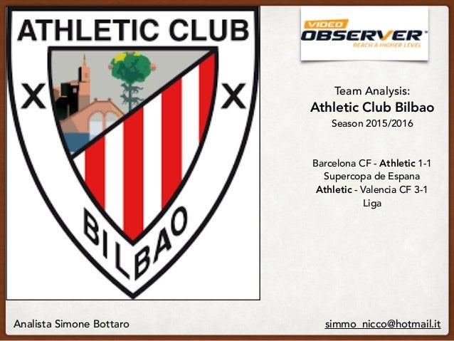 Team Analysis: Athletic Club Bilbao  Season 2015/2016  Barcelona CF - Athletic 1-1 Supercopa de Espana Athletic - Vale...
