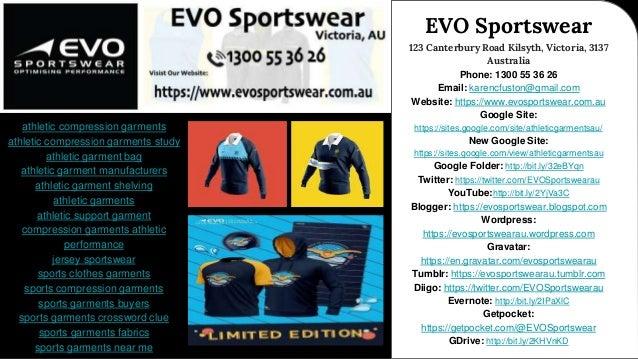 Sportswear World I EVO Sportswear - Contact Us Today! 1300