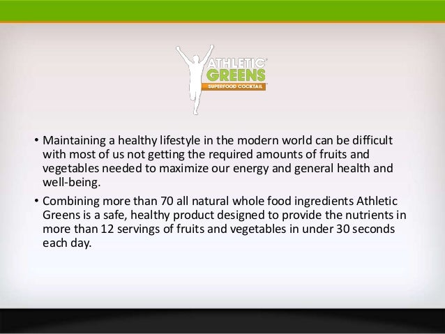 Athletic greens superfood cocktail review Slide 2