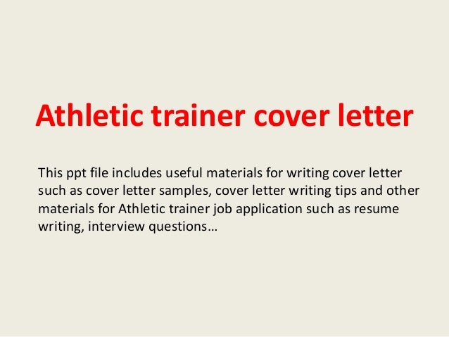 Athletic Cover Letters