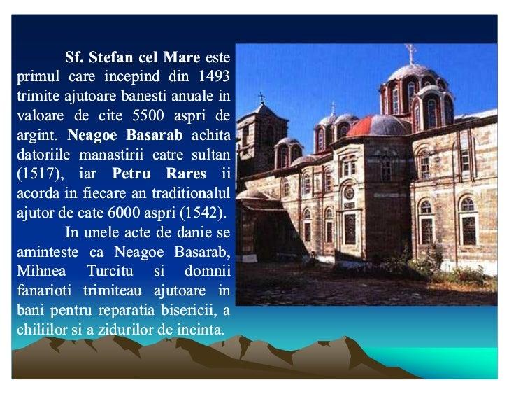 Sf. Stefan cel Mare este        Sf.primul care incepind din 1493trimite ajutoare banesti anuale invaloare de cite 5500 asp...