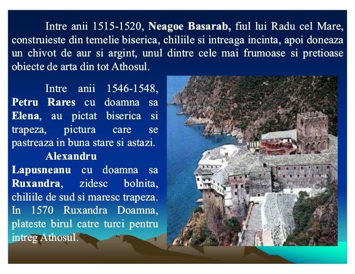 Intre anii 1515-1520, Neagoe Basarab, fiul lui Radu cel Mare,                   1515-1520,            Basarab,construieste...