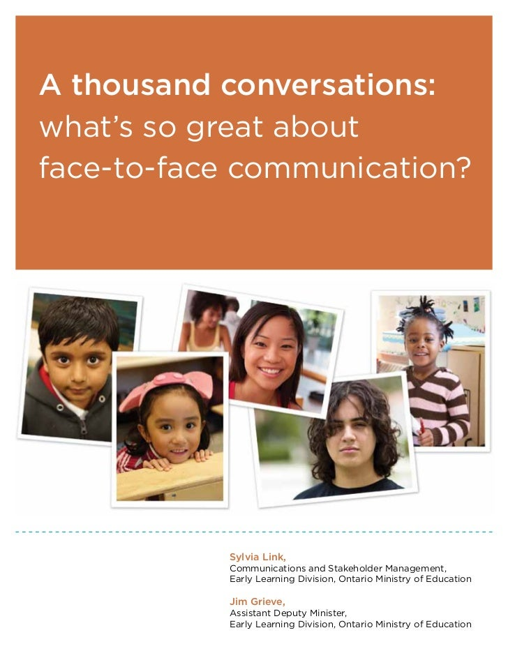A thousand conversations:what's so great aboutface-to-face communication?           Sylvia Link,           Communications ...