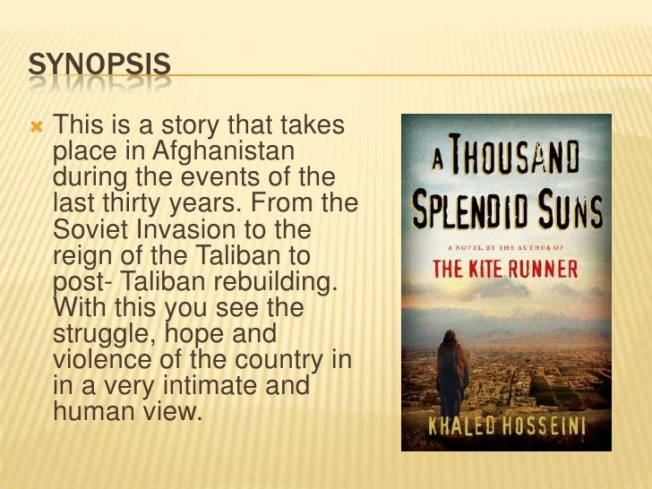 A thousand splendid suns book report