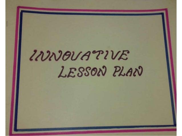 Innovative lessonplan