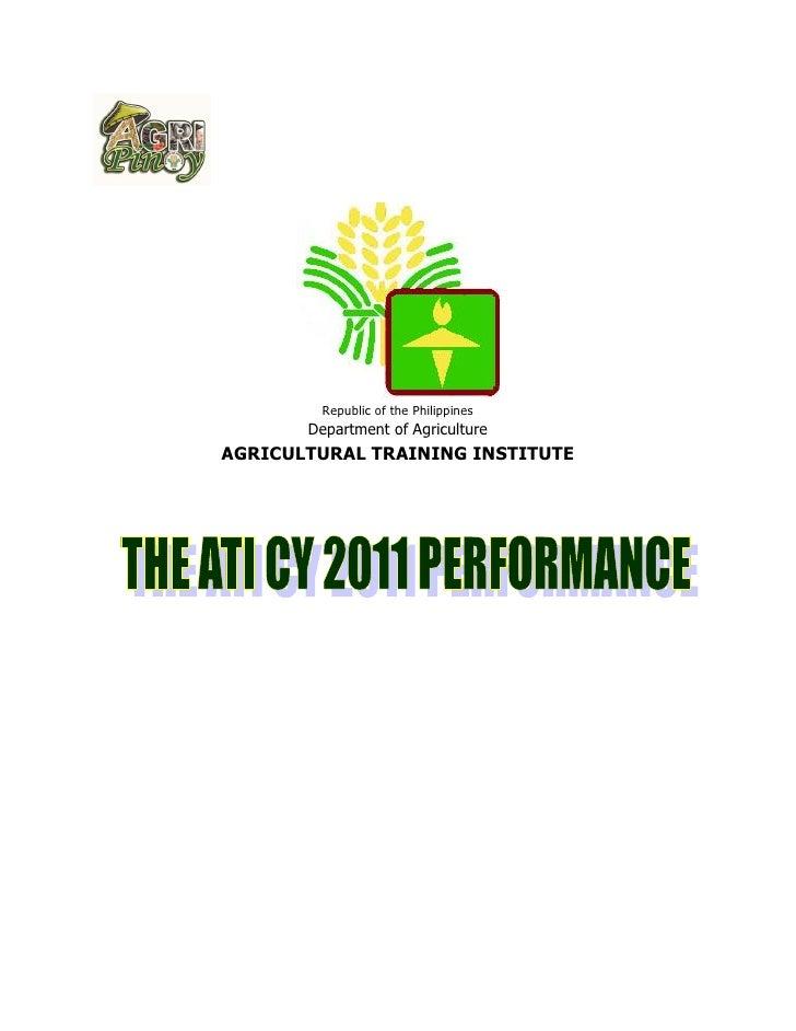 Republic of the Philippines       Department of AgricultureAGRICULTURAL TRAINING INSTITUTE