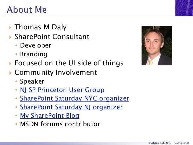 SharePoint 2013 User Interface and Design Improvements - Webinar from Atidan Slide 2