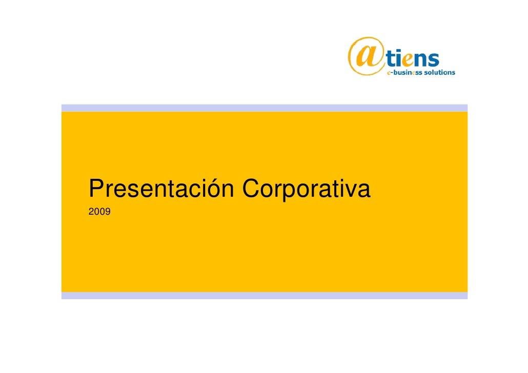 Presentación Corporativa 2009