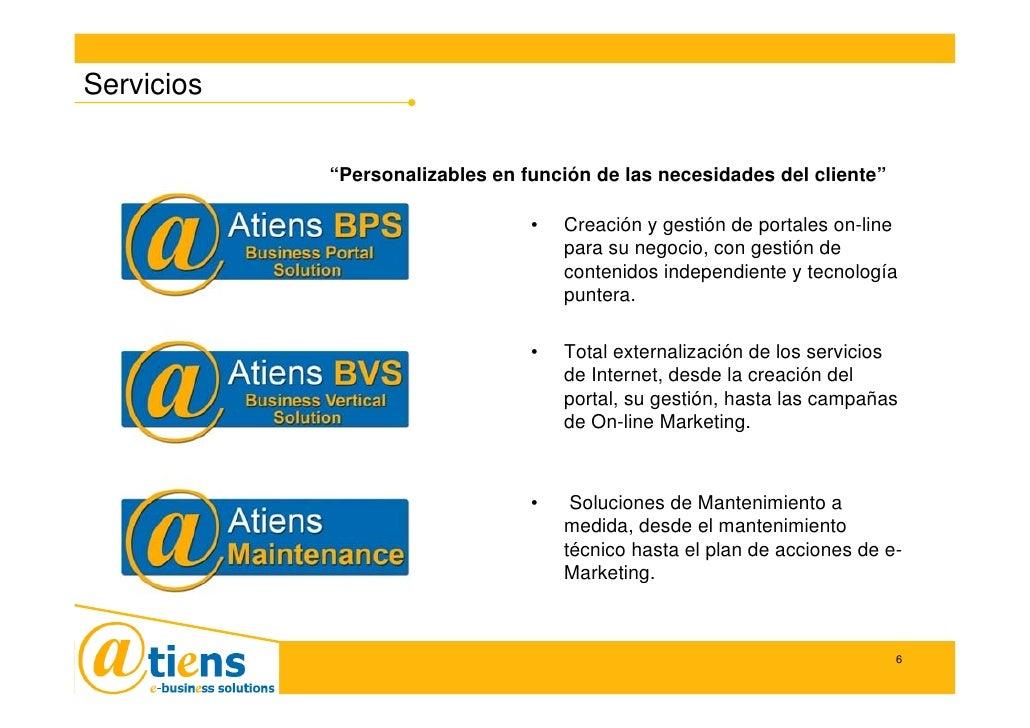 """Servicios              """"Personalizables en función de las necesidades del cliente""""                                   •   C..."""