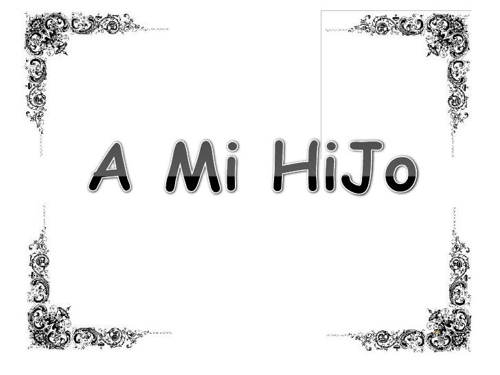 A Mi HiJo<br />