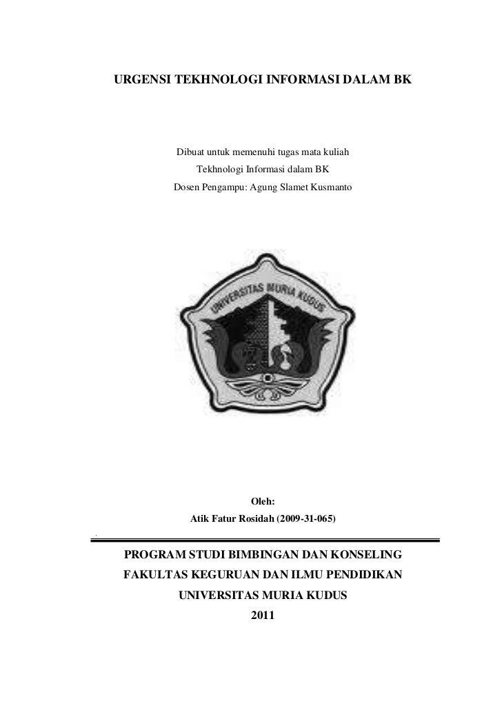 URGENSI TEKHNOLOGI INFORMASI DALAM BK<br />Dibuat untuk memenuhi tugas mata kuliah<br />Tekhnologi Informasi dalam BK<br /...