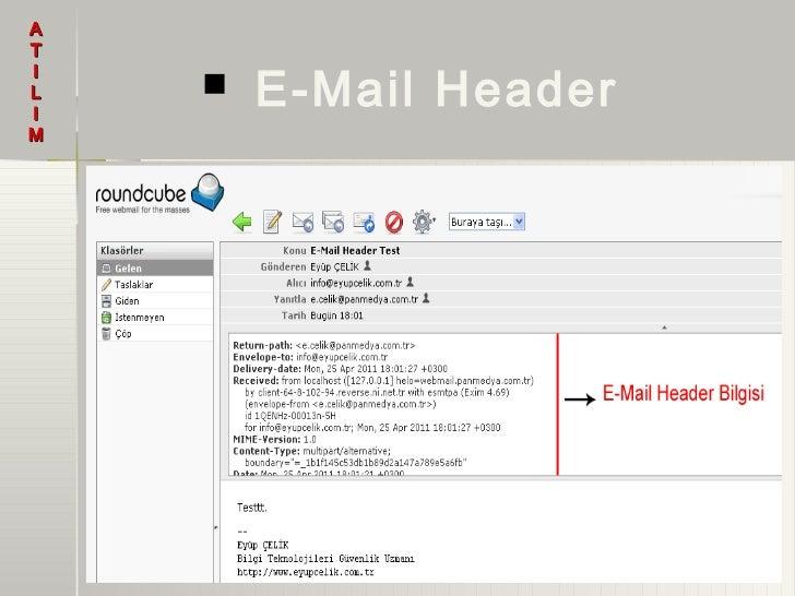 AT        E-Mail HeaderIL   IM