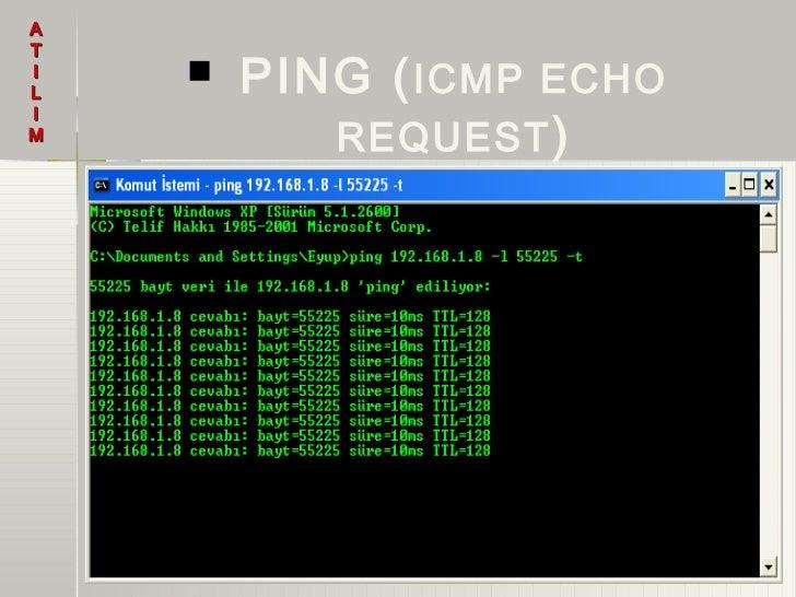 ATIL       PING ( ICMP ECHO           REQUEST )IM