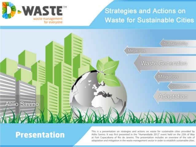 INDEX  a) Waste generation  b) Megacities  c) Globalization  d) Adaptation  e) Mitigation  f) NAMA´s  g) TSU