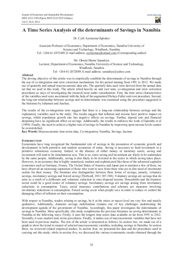 Journal of Economics and Sustainable Development www.iiste.org ISSN 2222-1700 (Paper) ISSN 2222-2855 (Online) Vol.5, No.8,...